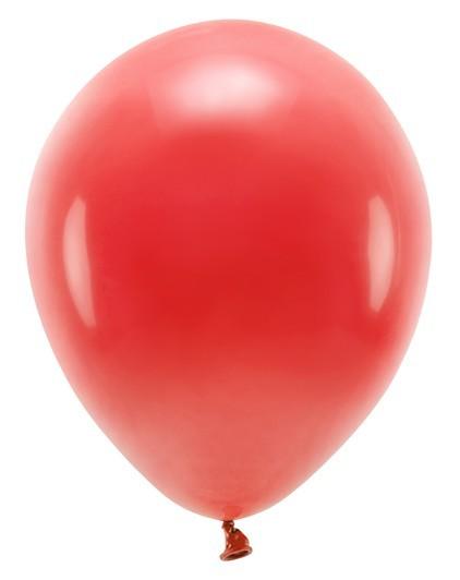 10 ballons éco pastel rouges 26cm