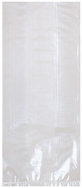 Sac cadeau joyeux anniversaire transparent 29x12,5cm
