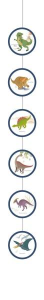 4 Wiszące dekoracje Happy Dinosaur 1,3 m