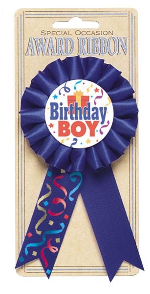 Pin de cumpleañero azul royal con motivo de decoración de fiesta