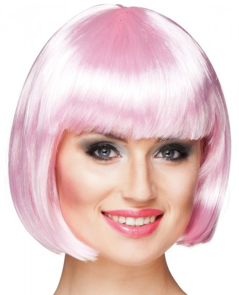 Peluca mujer jelly bob rosa