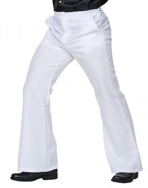 Pantalon évasé Seventies pour homme blanc
