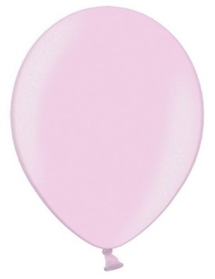 100 ballons métalliques Partystar rose clair 12cm
