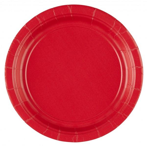 Geburtstag Verkehrsschild rot weiß 8 Stk D=23 cm Pappteller Party Teller 30