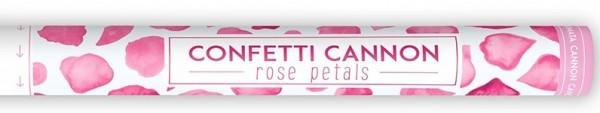 Canon à confettis fleurs roses 60cm