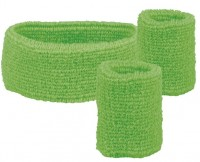Grünes 80er Jahre Schweißbänder 3er-Set