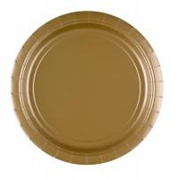 20 Pappteller Classic in Gold 23cm