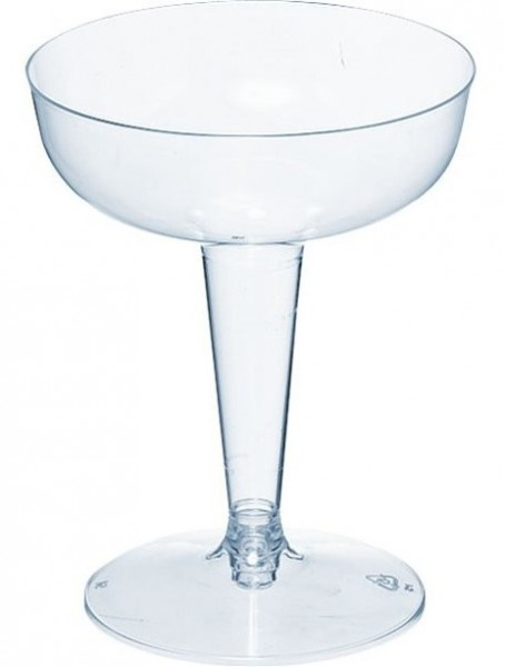 32 verres à champagne transparents 114ml