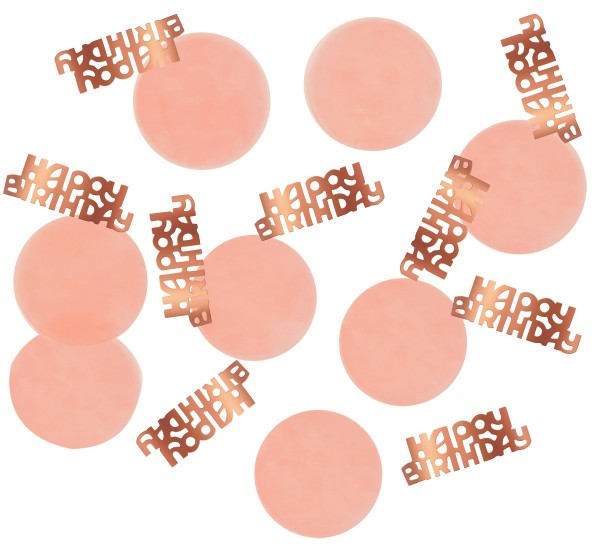 Elegant blush Birthday sprinkle decoration rose gold 25g