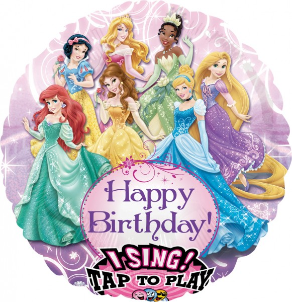 Singing birthday balloon Disney Princesses