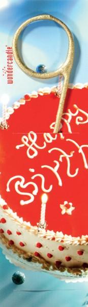 Sparkler joyeux anniversaire nombre d'or 9
