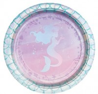 8 Mermaid Treasures Pappteller 18cm