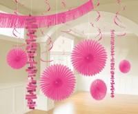 Dekoration Wunderland in Pink 18-teilig