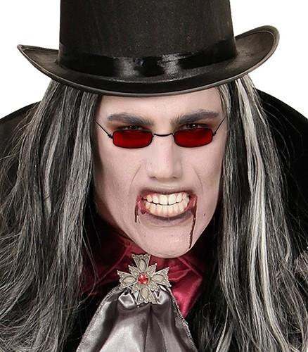 Blutrote Vampir Brille