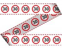 Verkehrsschild 30 Absperrband 15m