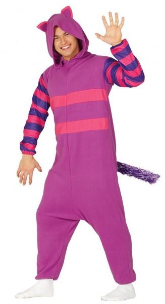 Grinsende Katze Plus-Size Kostüm lila