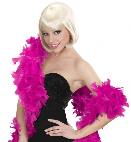 Pink feather boa 180cm