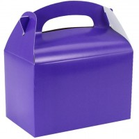 Geschenkbox rechteckig violett15cm