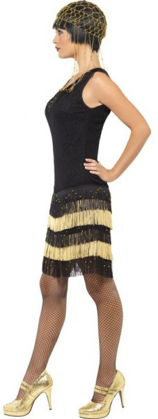 Black Charleston dress with lace front