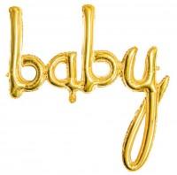 Baby Folienballon gold 73,5 x 73,5cm