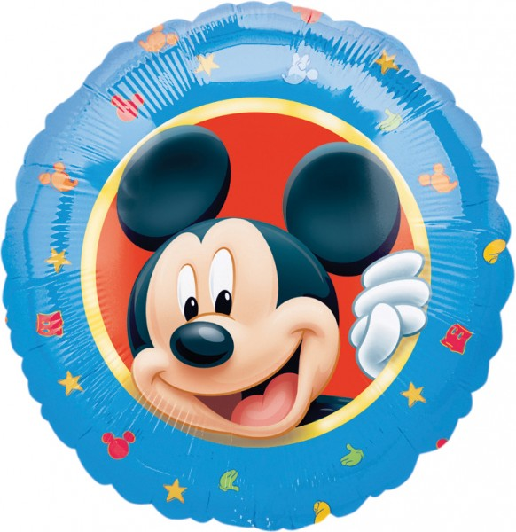 Round Mickey Mouse foil balloon 46cm