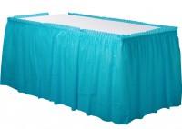 Tischumrandung Mila azurblau 4,26m x 73cm