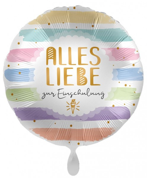 Inscription ballon pastel 43cm