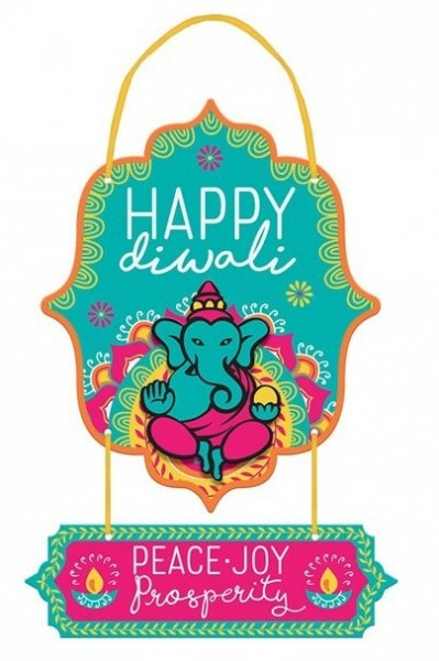Panneau suspendu Happy Diwali 2 parties