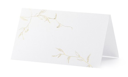 10 Tischkarten Harmony 9,5 x 5,5cm