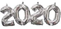 Silberner 2020 Ballon Schriftzug 53 x 22cm