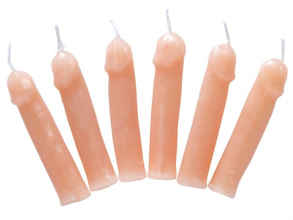 Lot de 6 mini bougies Willy