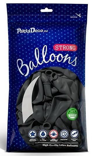 50 Partystar Luftballons anthrazit 30cm