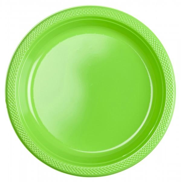 20 assiettes Gwen Green 22.8cm