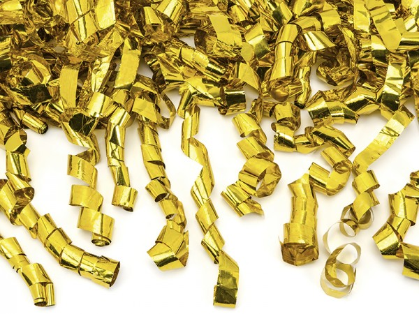 Luftschlangen Kanone gold 40cm