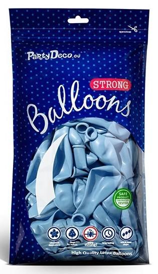 10 globos metalizados estrella de fiesta azul pastel 30cm