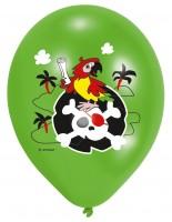 6 Buntes Piraten Abenteuer Luftballons 28cm