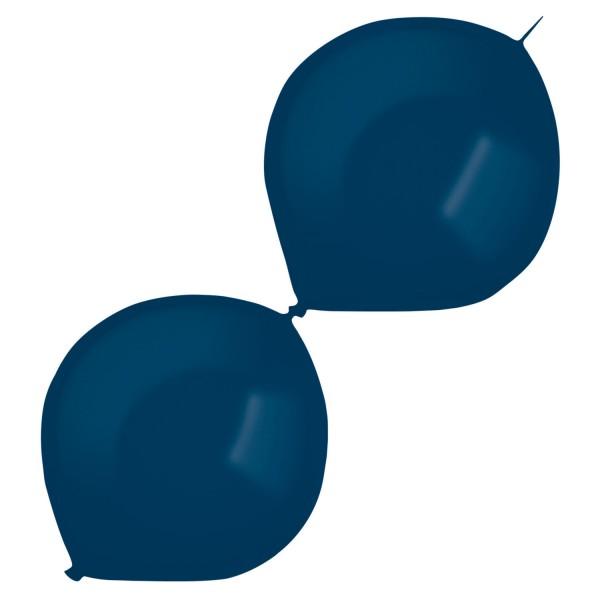 50 Metallic Girlandenballons dunkelblau 30cm