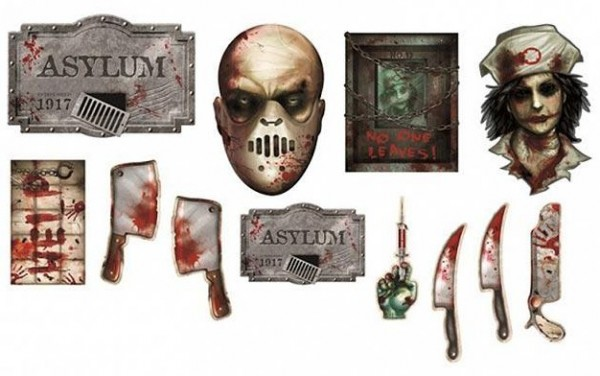 12 découpes décoratives de psychiatrie d'horreur
