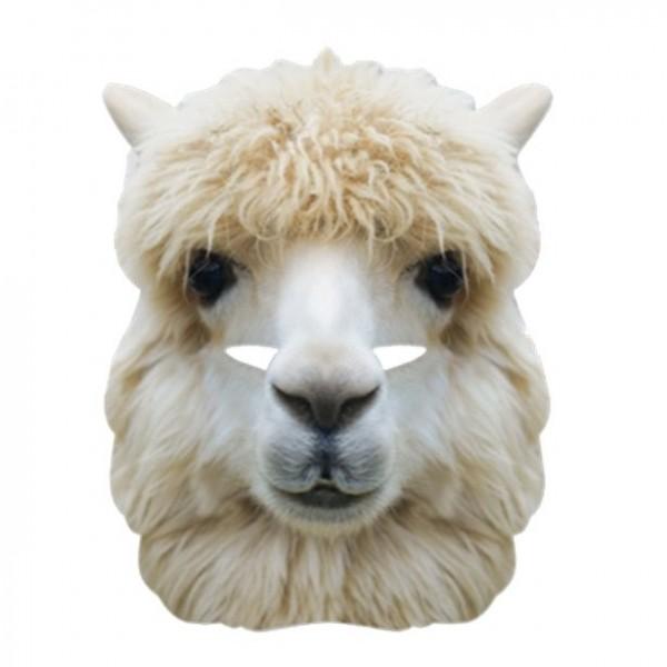 Tekturowa maska lamy alpaki