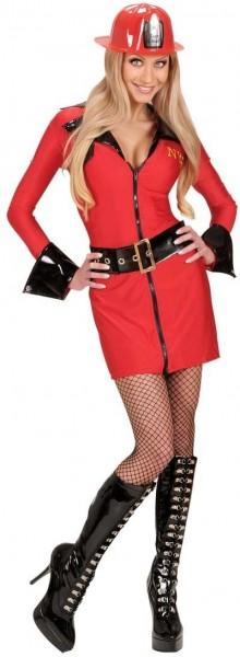 Dit meisje is op brandweerman dames kostuum