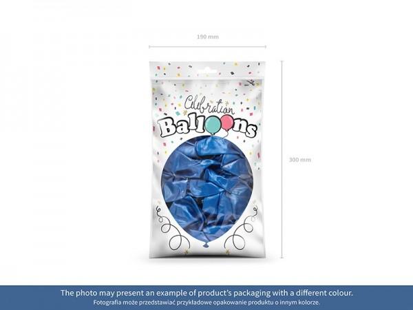 100 Celebration metallic Ballons aquamarin 23cm