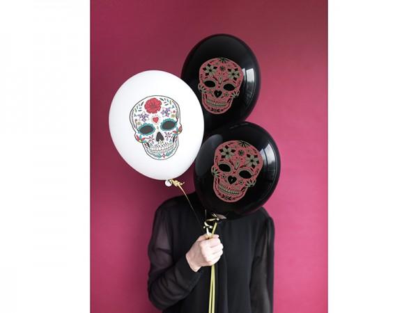 6 Fest der Toten Ballons weiß 30cm