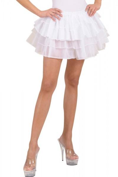 Weißer Ballerina Rock
