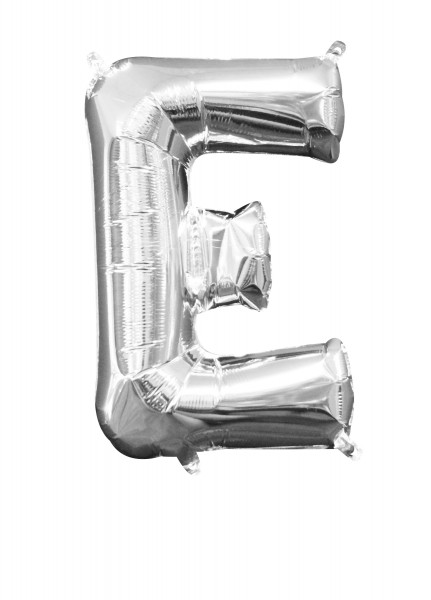 Mini Folienballon Buchstabe E silber 1