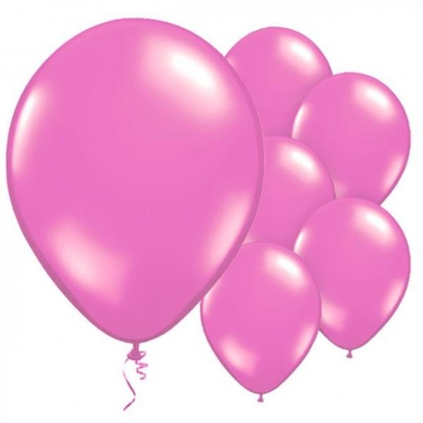 10 Latexballons Magenta metallic 28cm