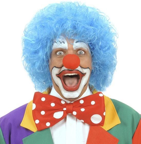 Blaue Binky Clown Perücke