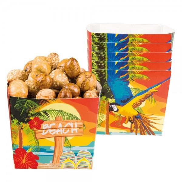 6 Karibische Beach Party Schalen