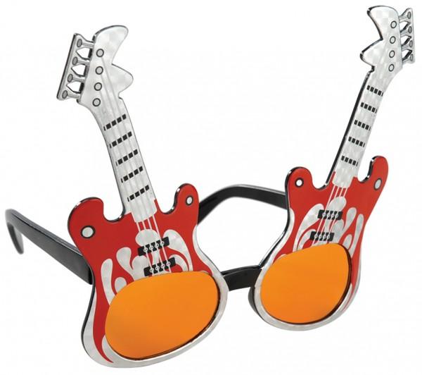 Ausgefallene Rockstar Brille E-Gitarre