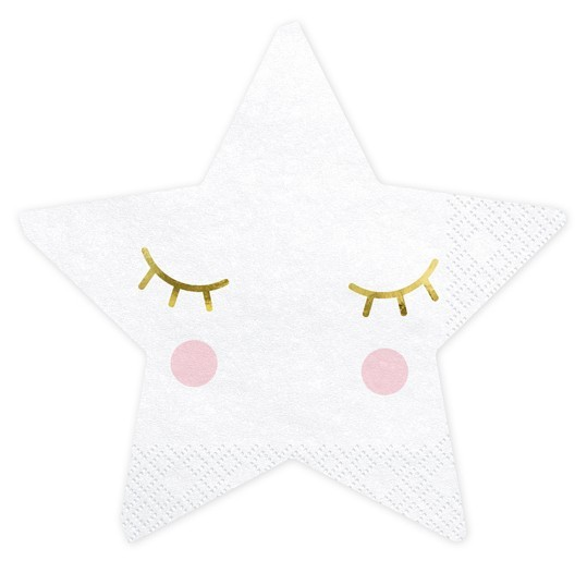 20 napkins small star 30cm