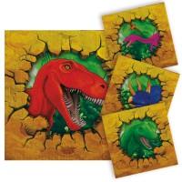 16 Servietten Dino Abenteuer 25cm